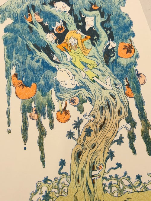 Image of Magical Orange Tree Print