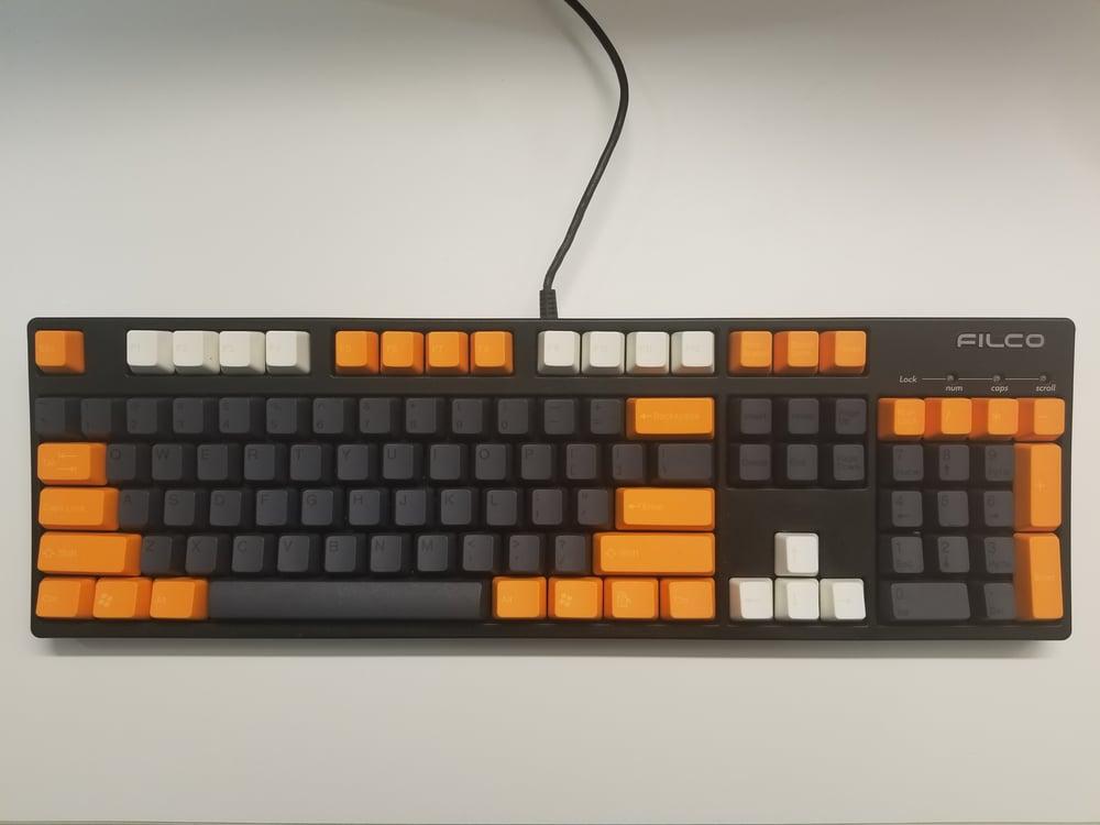 Image of [Tai Hao]Orange / Graphite Grey Keycap Doubleshot Keyset