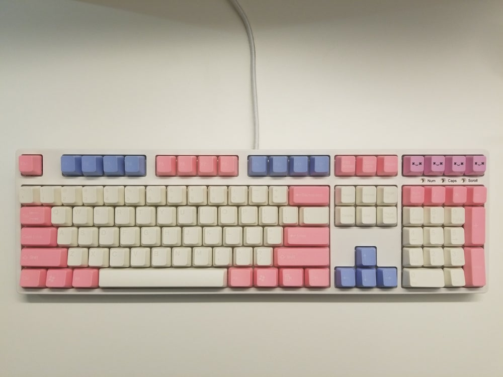 Image of [Tai Hao]Baby Blue / Pink Cotton Candy Keycap Doubleshot Keyset