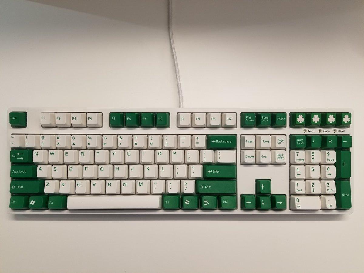 Image of [Tai Hao]Green 104 Keycap Doubleshot Keyset