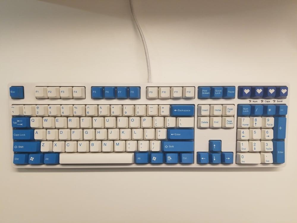 Image of [Tai Hao]Blue 104 Keycap Doubleshot Keyset