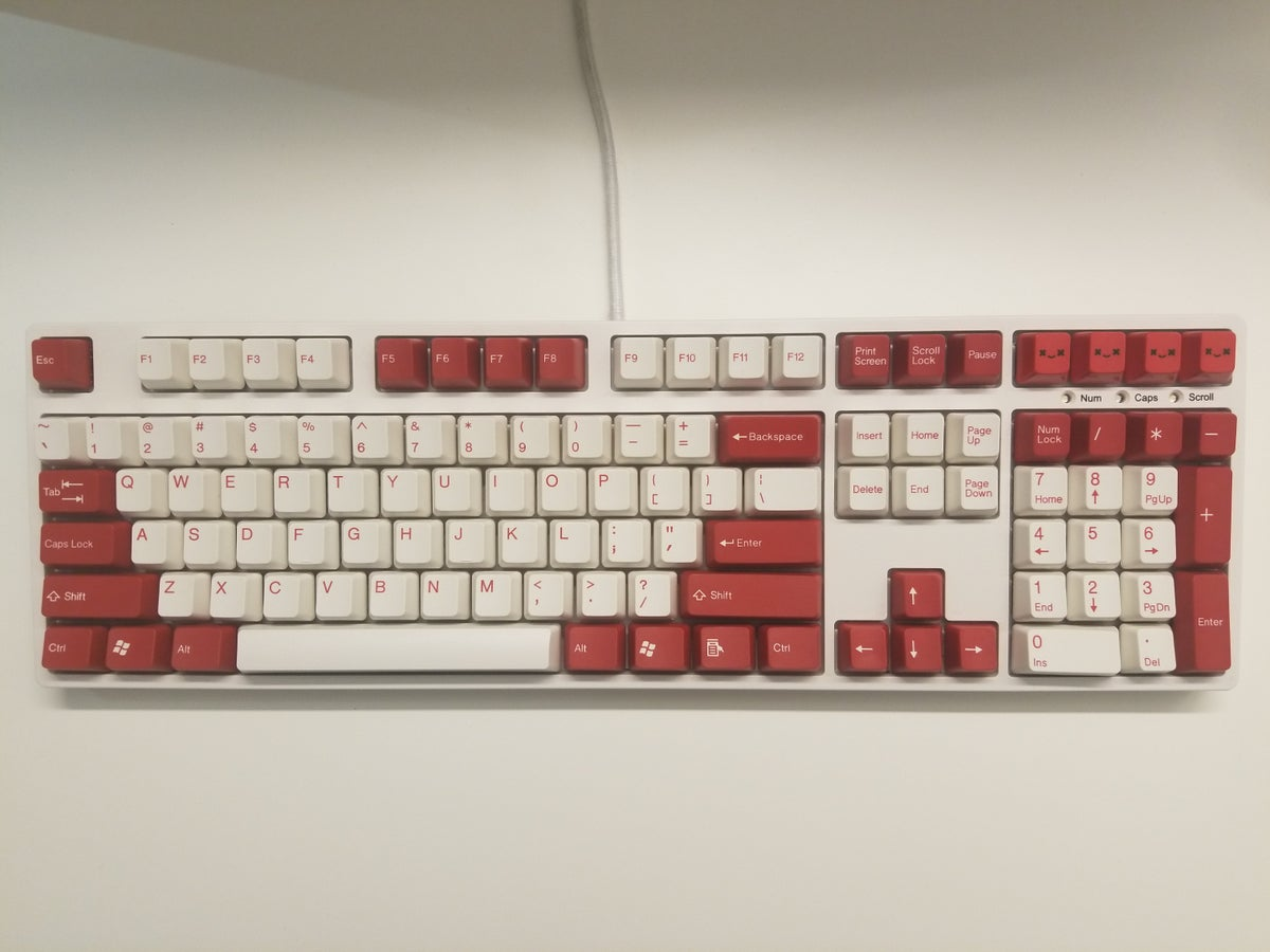 Image of [Tai Hao]Red 104 Keycap Doubleshot Keyset