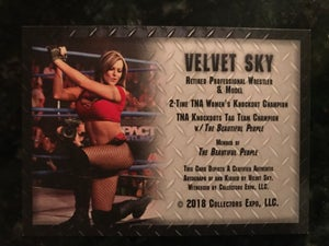 Image of Velvet Sky Knockouts Champ authentic Kiss Card