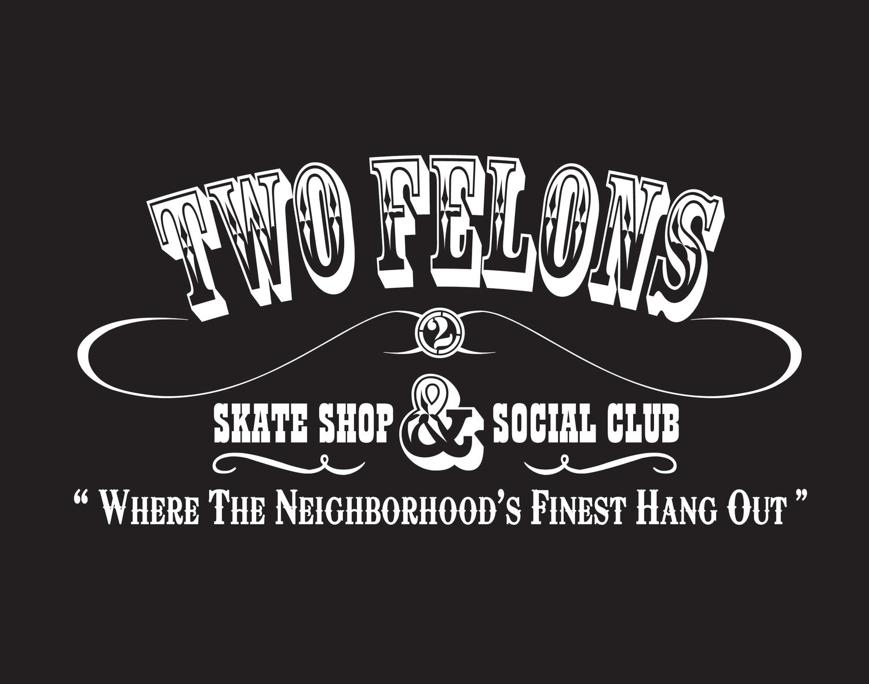 "Image of Two Felons ""Social Club"" windbreaker (blk/wht)"