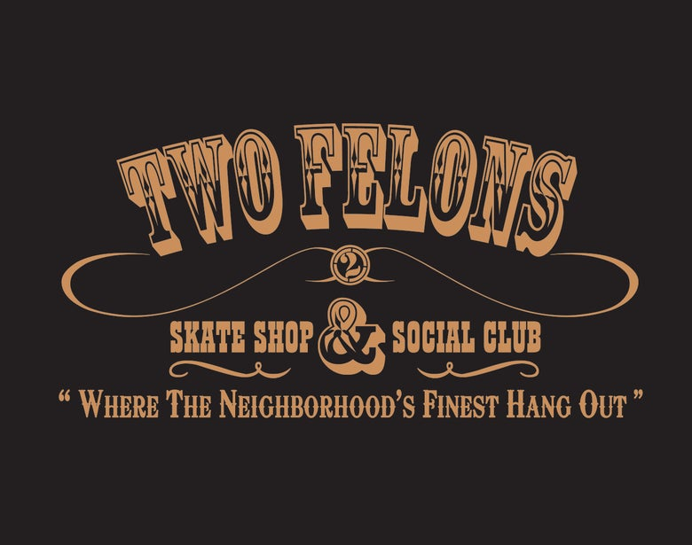 "Image of Two Felons ""Social Club"" windbreaker (blk/tan)"