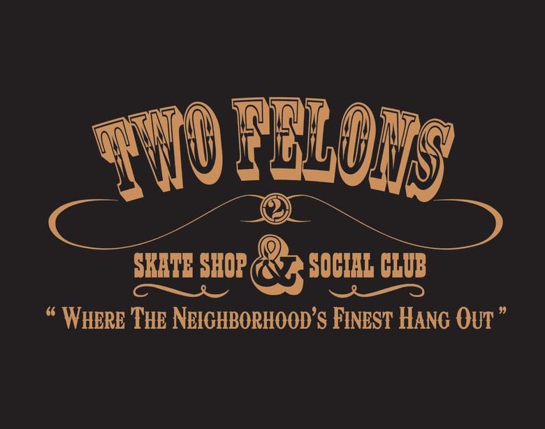 "Image of Two Felons ""Social Club"" windbreaker (blk/tan)"