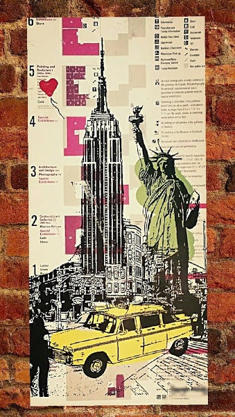 "Image of ""Empire State"", Print on Museum Of Modern Art Map."