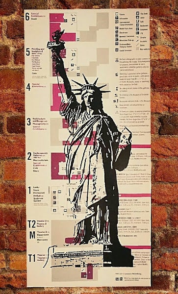 "Image of ""Be Free!"" Original Print on Museum Of Modern Art Map."