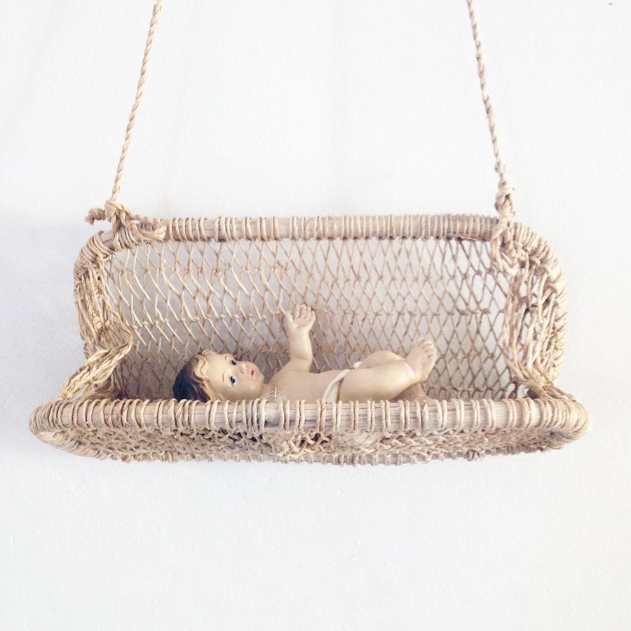 Image of Nenes Handmade Tree Bark Hanging Basket