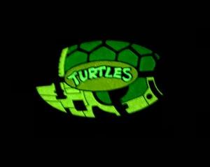 "Image of 2"" Turtle Blimp Soft Enamel Pin (GID)"