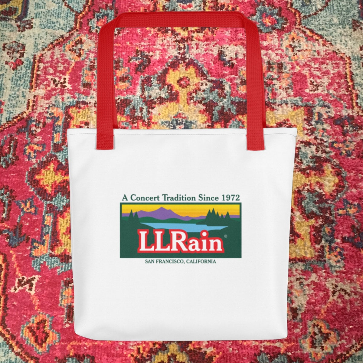 LL Rain Double Sided Tote Bags!