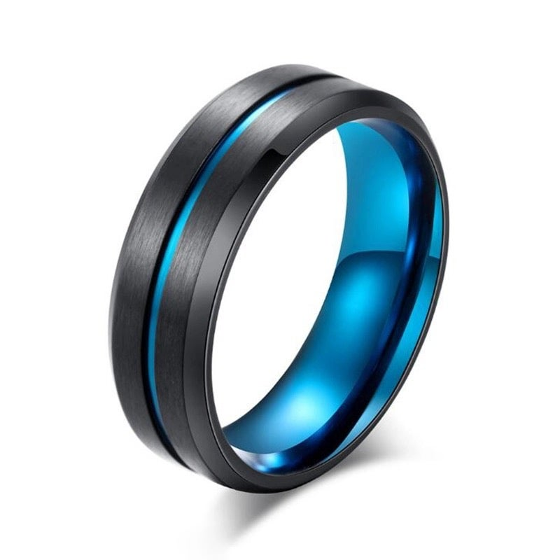 Image of blue steel ring