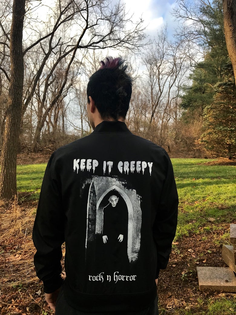 Image of Keep It Creepy Unisex Bomber
