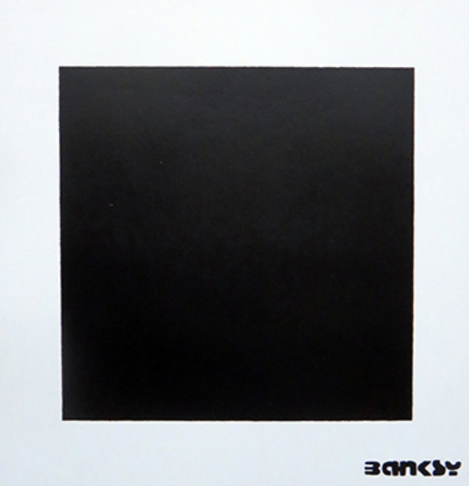 "Image of 🎈NOT NOT BANSKY ""BLACK SQUARE WITH BLACK SQUARE""🎈"