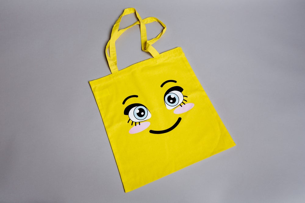 Rachel Maclean, <i>Happy Tote</i>, 2018 SOLD OUT