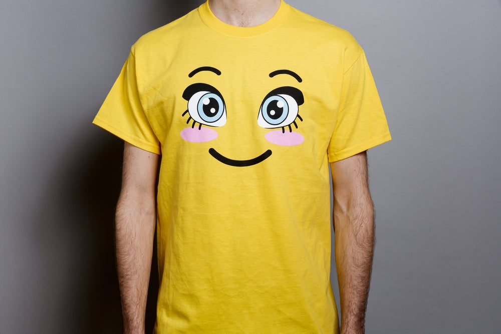 Rachel Maclean, <i>Happy T-Shirt</i>, 2018