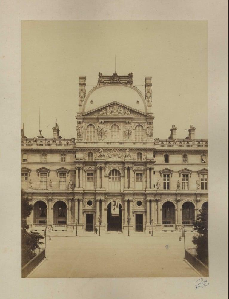 Image of Gueuvin: Louvre, Pavillon Richelieu, albumen print, ca. 1865