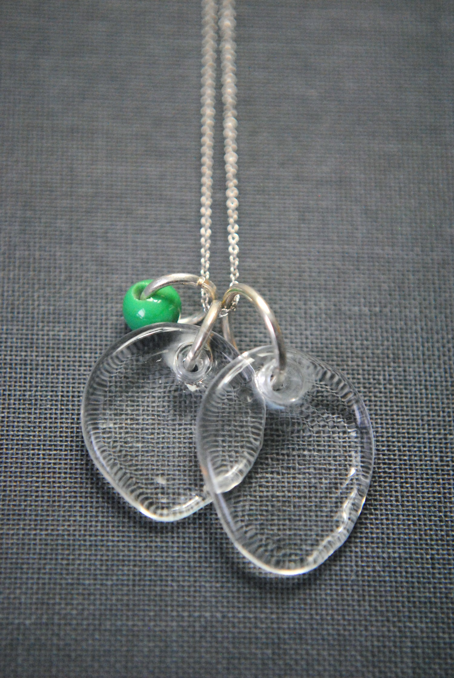 Image of Glass necklace with green