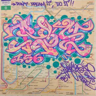 Plan de métro Grand Format 3 - PSY la boutik