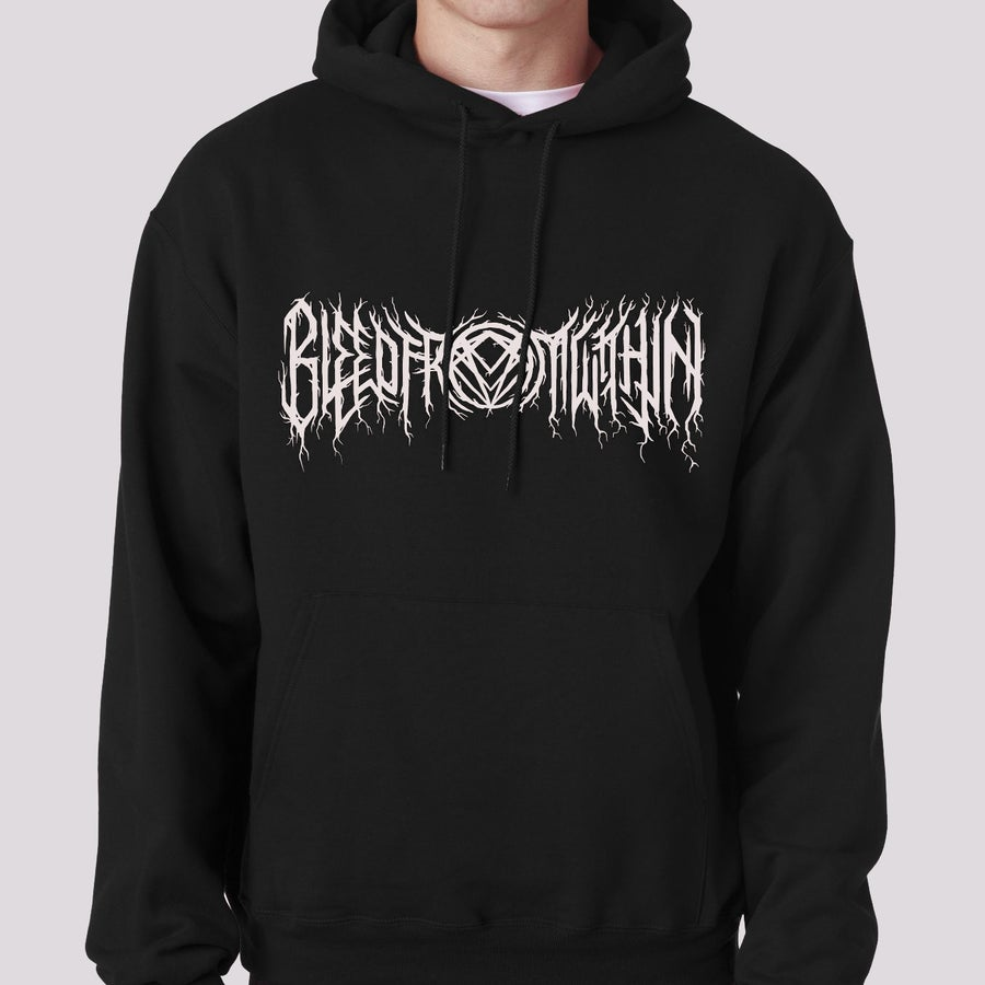 Image of Black Metal Pullover Hoodie