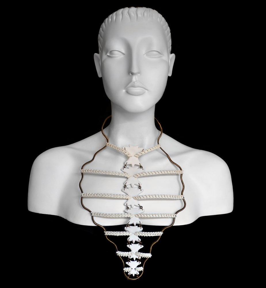 Image of California King Snake Ribcage Necklace