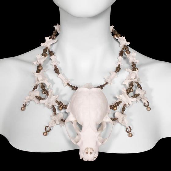 "Image of ""Vydra"" Otter Skull and Vertebrae Necklace"