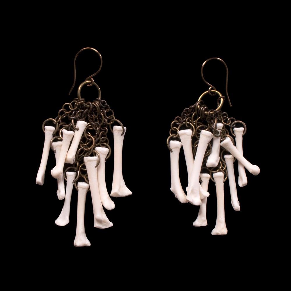 "Image of ""Kherem"" Squirrel Foot Bone Earrings"