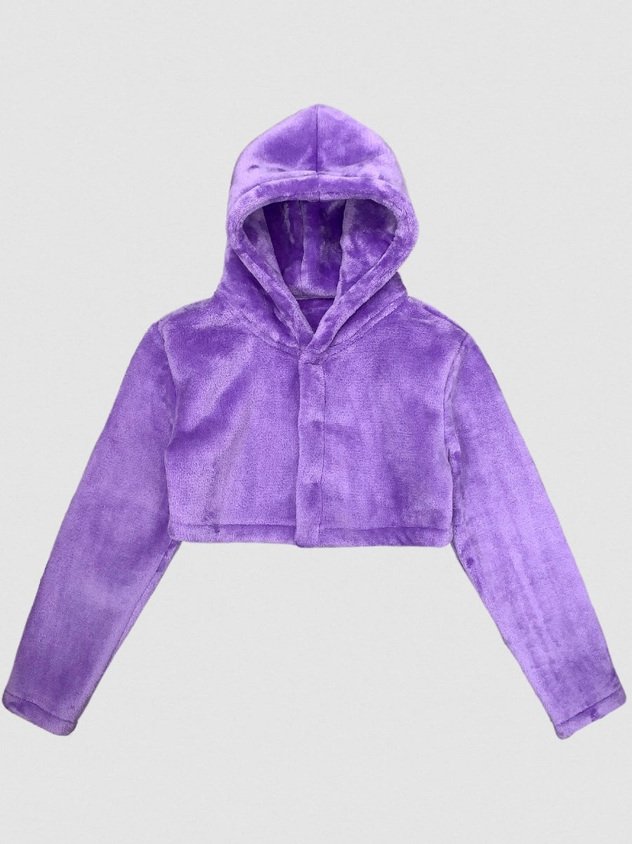 Image of ORGVSM //CROPPED ECO FUR vs pvrple //PREORDER