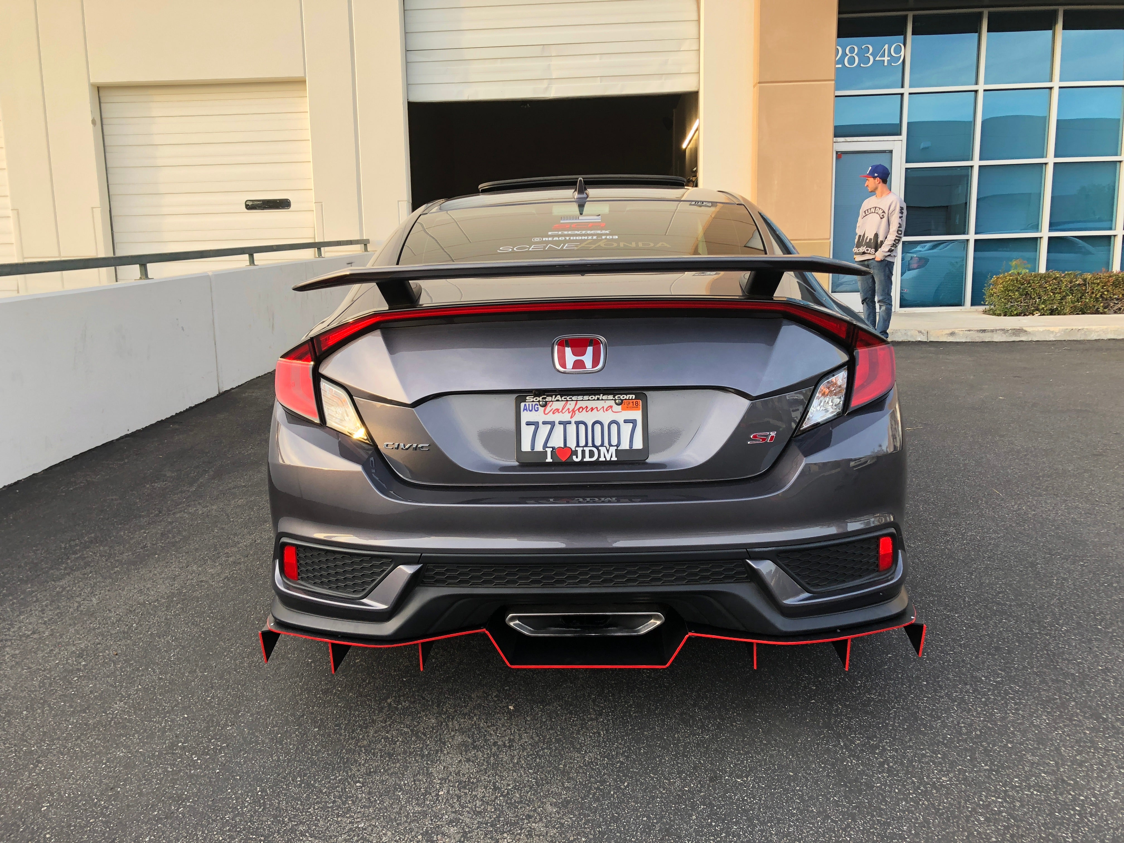 Downforcesolutions 17 20 Honda Civic Si Rear Diffuser