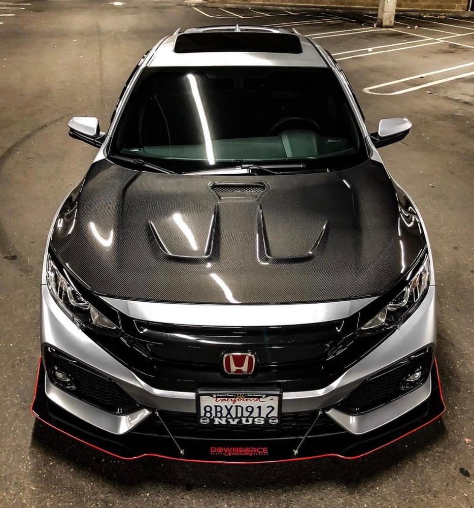 "2019 Honda Civic Sedan Front Splitter: 2016-2019 Honda Civic (10th Gen) ""V2"