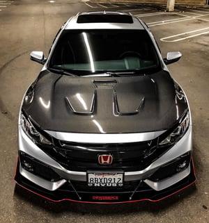 """Image of 2016+ Honda Civic (10th Gen) """"V2"""" front splitter"""