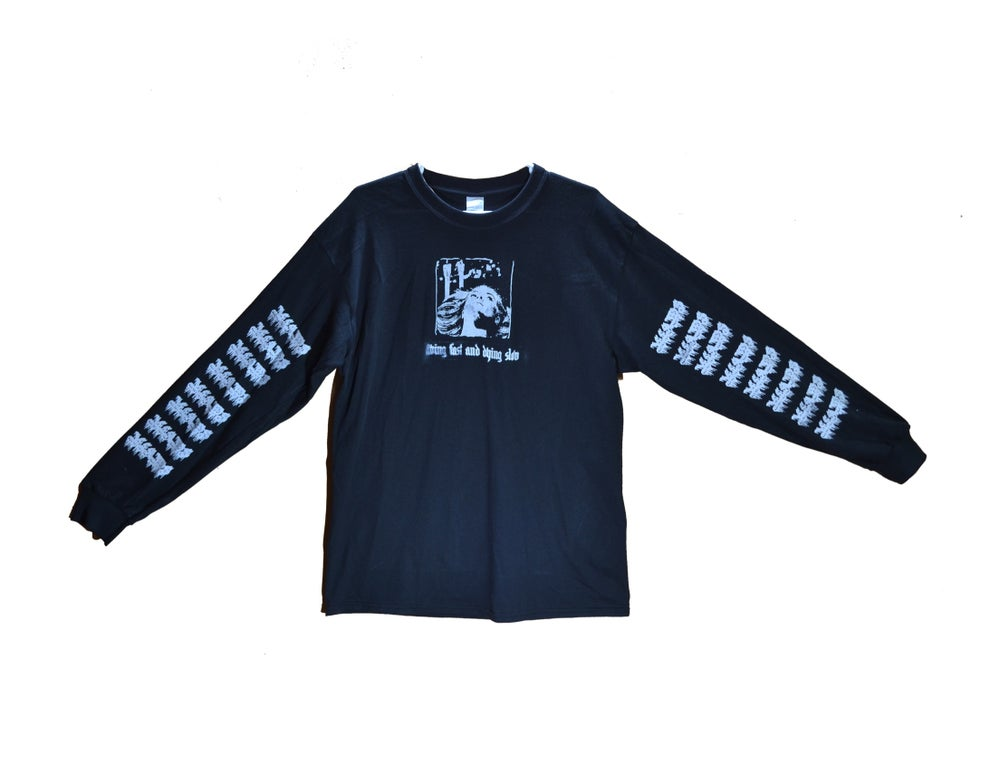 "Image of ""LIVING FAST & DYING SLOW"" - LONGSLEEVE (BLACK)"