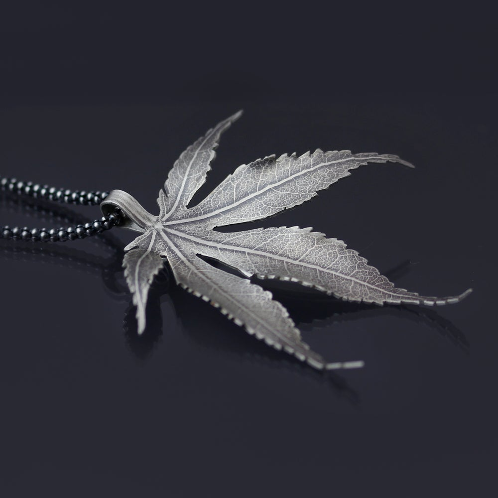 Image of Sterling Silver Japanese Maple Leaf Necklace