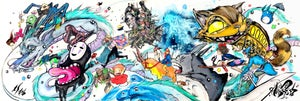 """Image of """"Ghibli Collection"""" Original Painting"""