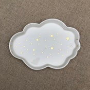 Image of Grande assiette nuage étoilée