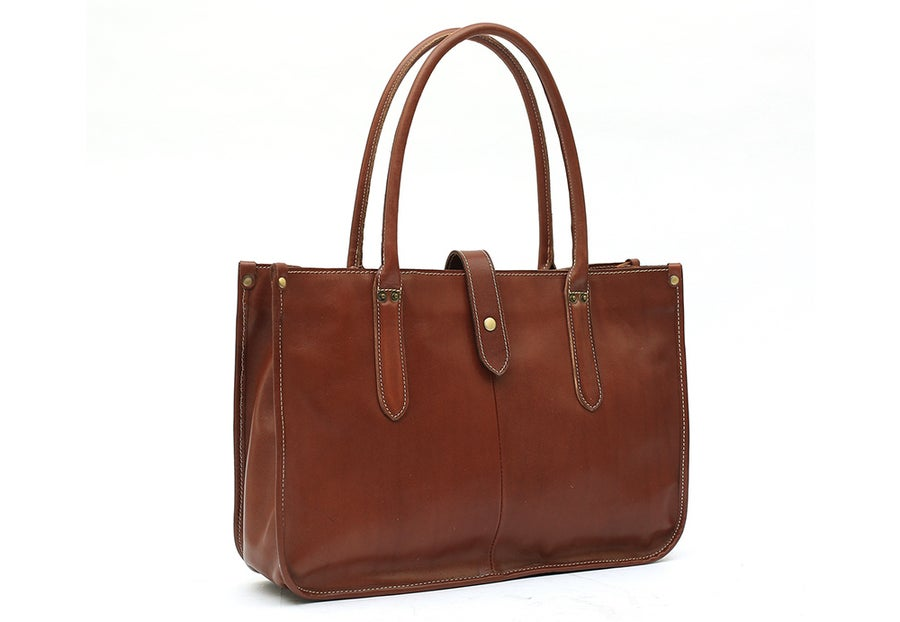 Image of Handmade Full Grain Leather Tote Bag, Leather Handbag for Women, Shoulder Bag, Work&Student Bag 6605
