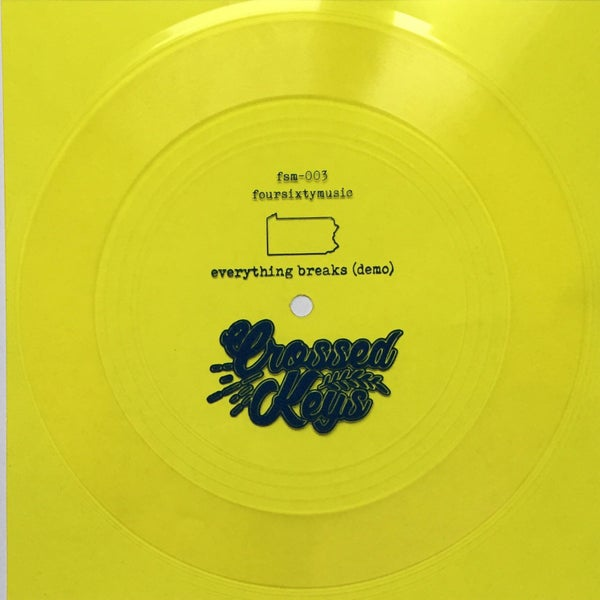 "Image of Crossed Keys 'Everything Breaks (demo)' 7"" flexi"