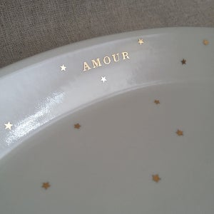 Image of Assiette ovale AMOUR