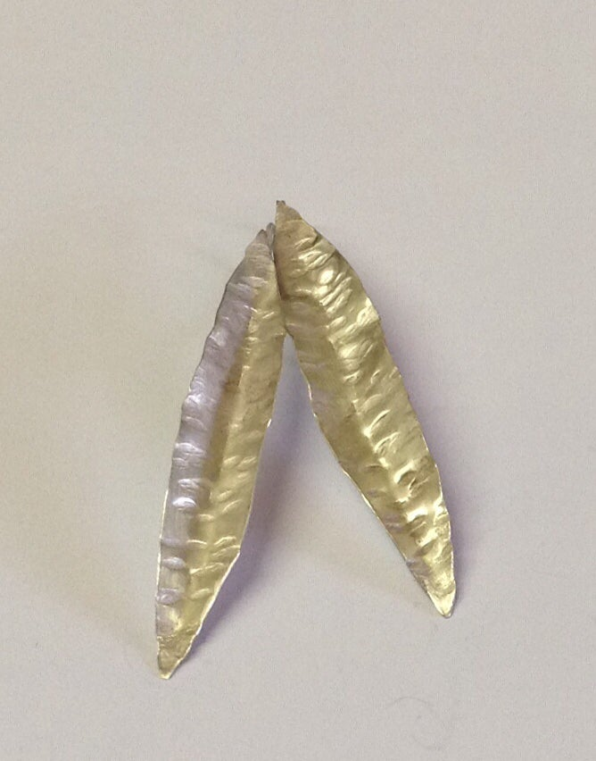Image of Silver Leaf Earrings
