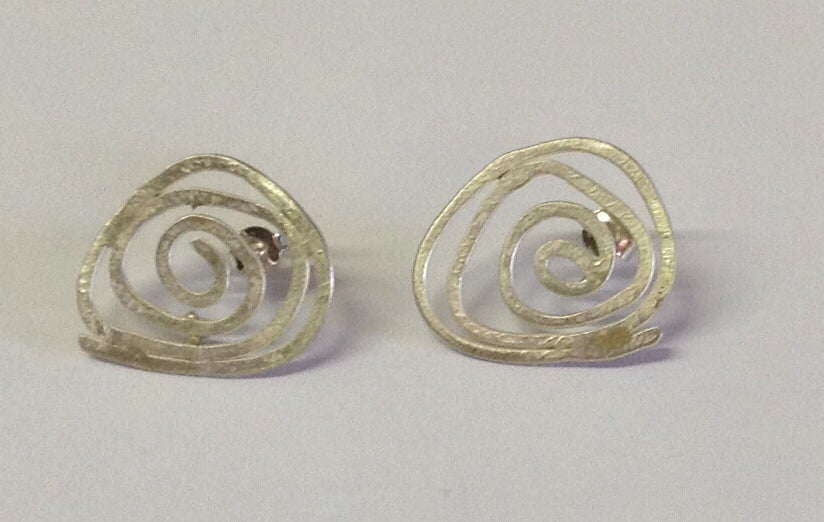 Image of Silver Swirl Studs