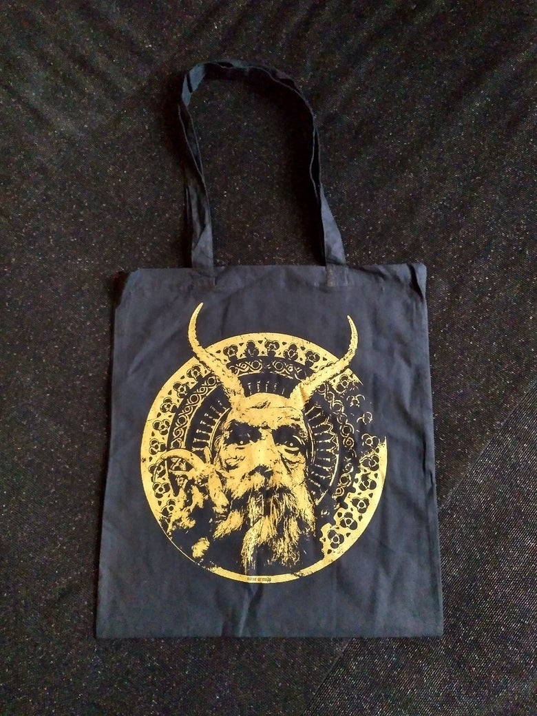 Image of THE OLD DEVIL totebag black