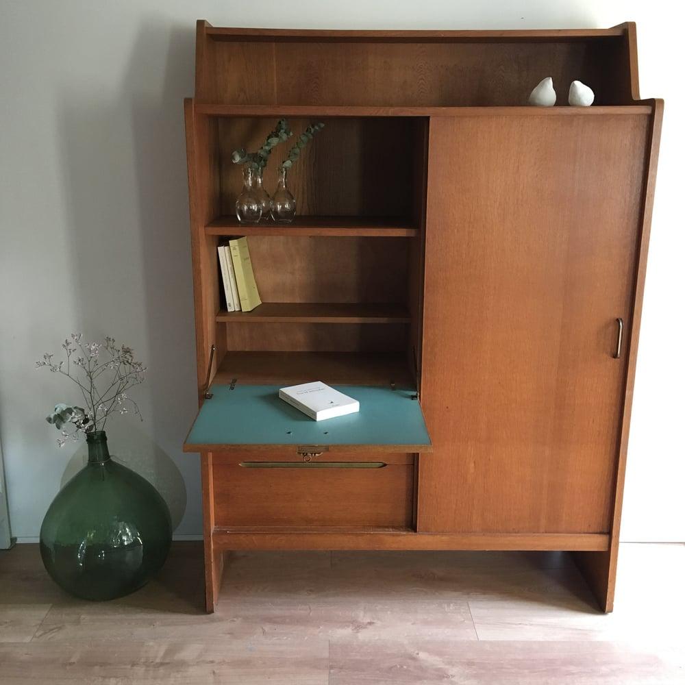 Image of Edmond, meuble vintage (secrétaire / rangement)