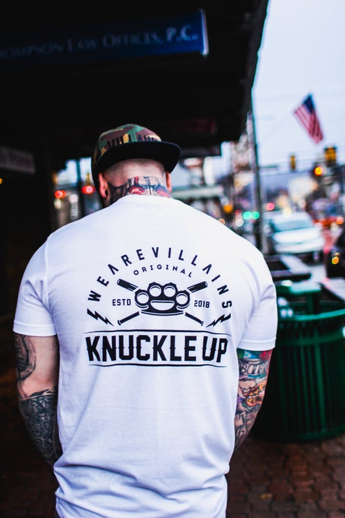 Image of KNUCKLE UP WHITE TEE