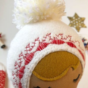 Image of Red Velvet Classic Holiday Doll #2