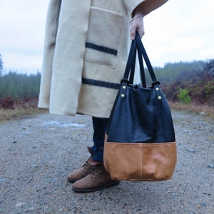 Image of Asa FULL LEATHER Utility Tote/Backpack // Parent Bag