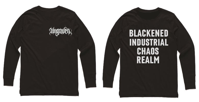 Image of UNGRAVEN (UK) - Long sleeve shirt with backprint.