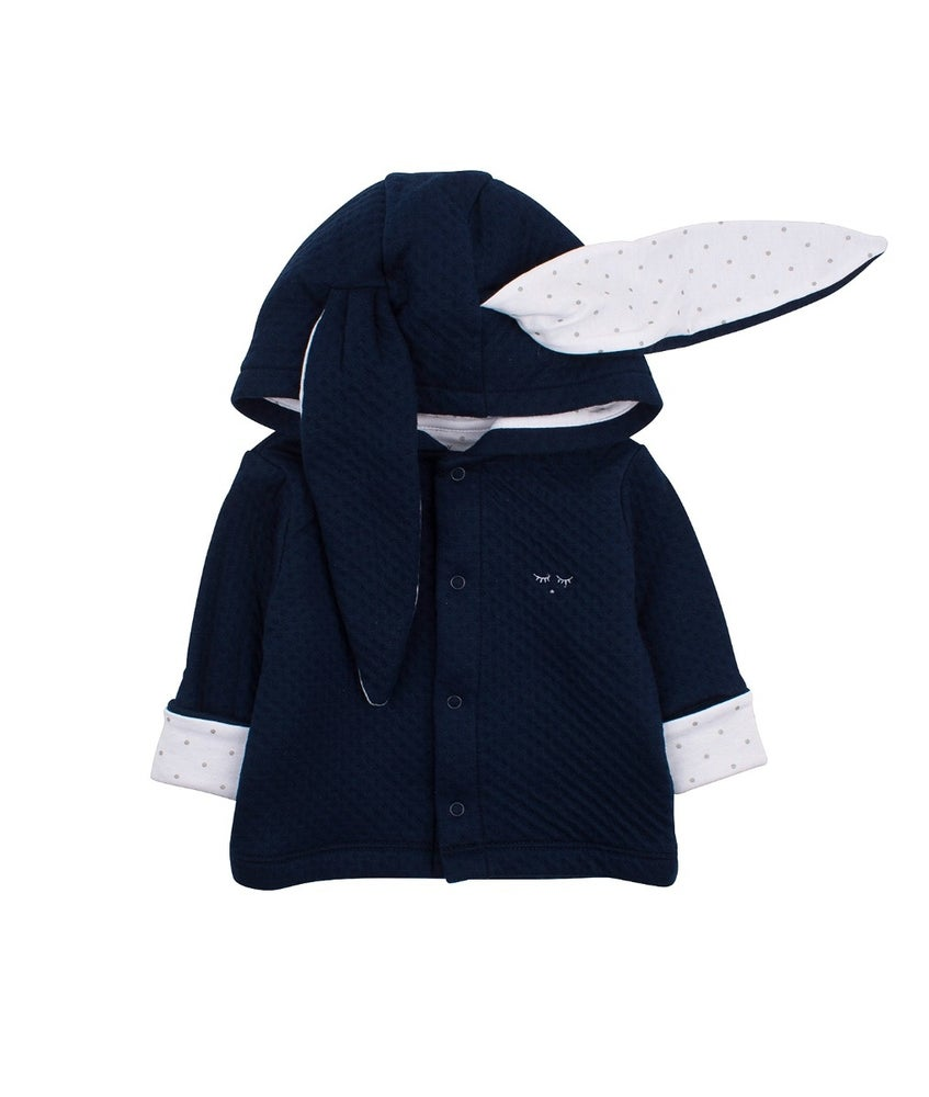 Image of NAVY BUNNY CARDIGAN