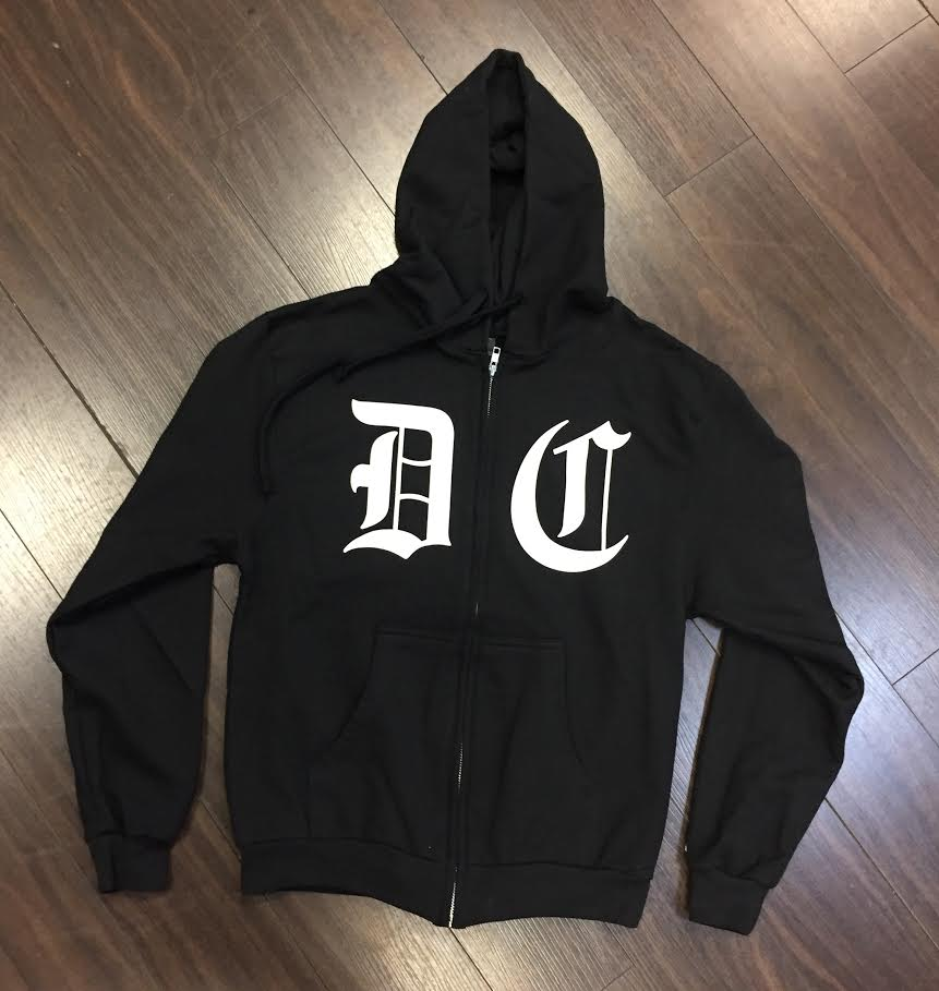 Image of Lettering Zip-Up Hoodie