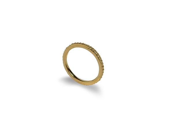 Image of Erosion Ring 18K Gold