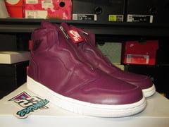 "Air Jordan I (1) Retro High Zip ""Bordeaux"" WMNS - areaGS - KIDS SIZE ONLY"